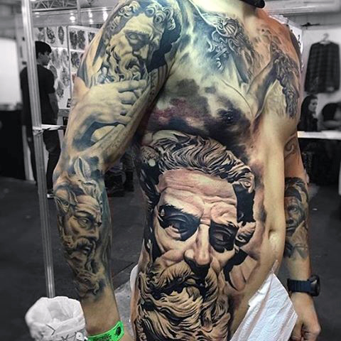 Large Greek Tattoo
