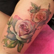 135 Beautiful Rose Tattoos And Their Meaning