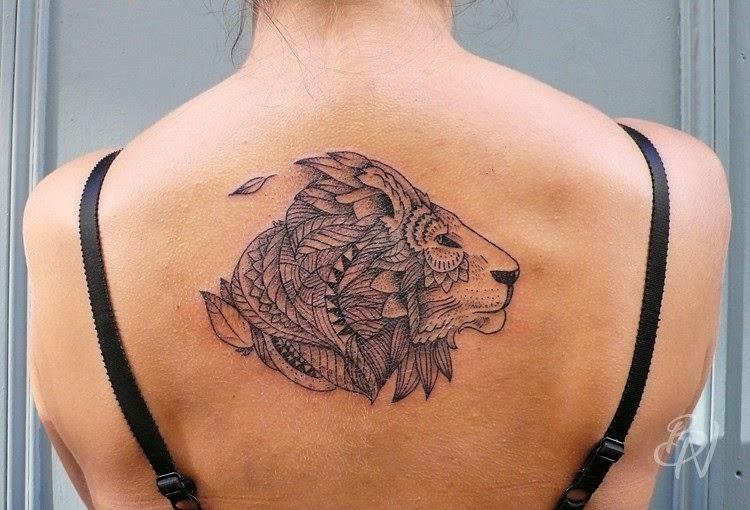 lion lioness love tattoo