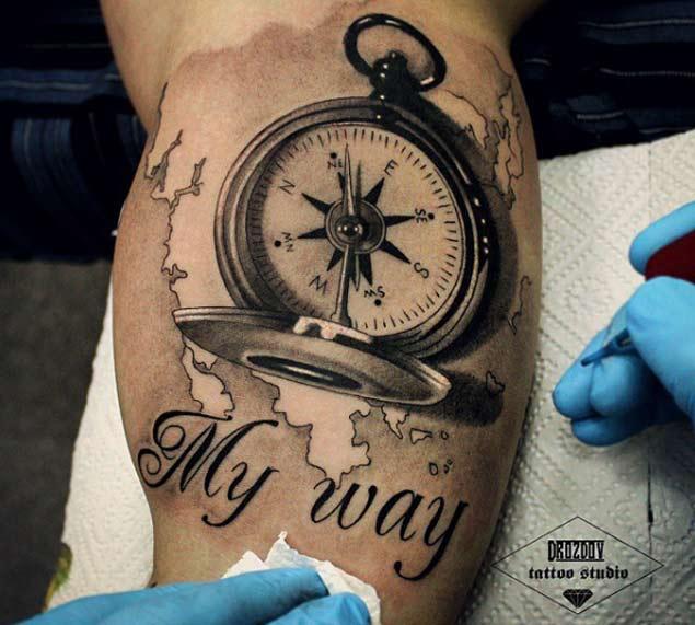 101 hand picked compass nautical tattoo design ideas. Black Bedroom Furniture Sets. Home Design Ideas