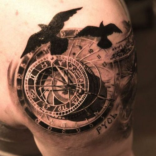 101 compass nautical tattoo design ideas - Tattoo Design Ideas