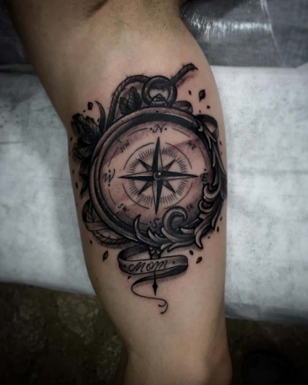 Incredible Design Ideas For Self Confessed Introverts: 101 Hand-Picked Compass & Nautical Tattoo Design Ideas