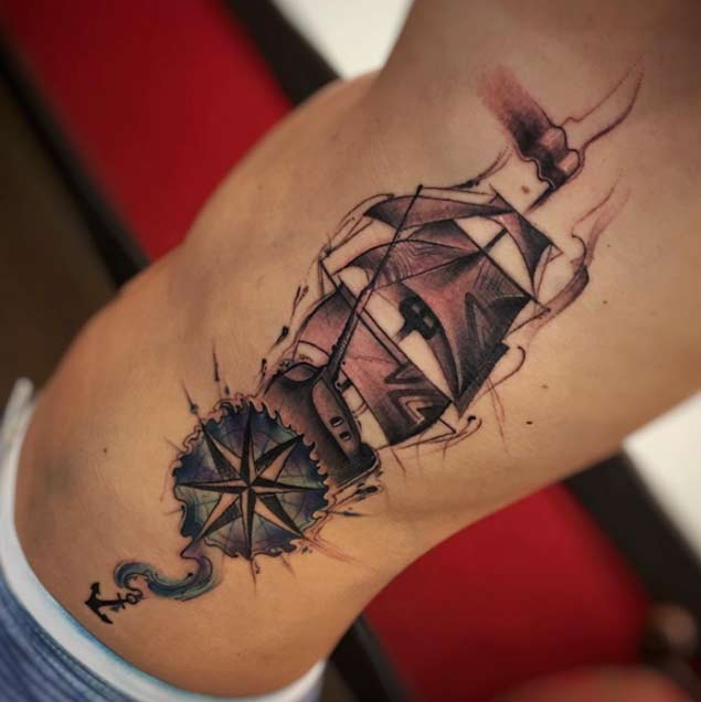 Pictures Of Nautical Compass Hand Tattoo Kidskunstinfo