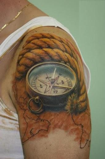101 Hand Picked Compass Nautical Tattoo Design Ideas Authoritytattoo