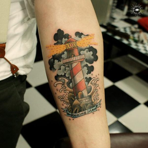 101 Bright amp Shining Lighthouse Tattoo Design Ideas