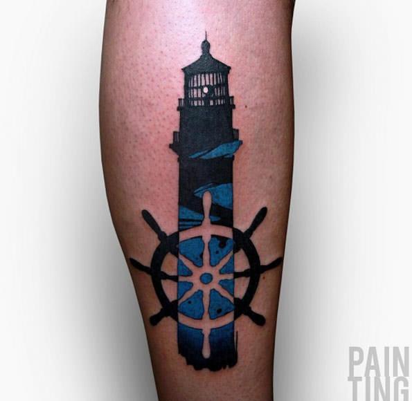 101 Bright & Shining Lighthouse Tattoo Design Ideas ...