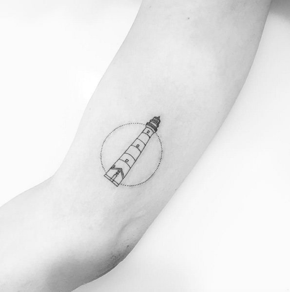 Incredible Design Ideas For Self Confessed Introverts: 101 Bright & Shining Lighthouse Tattoo Design Ideas