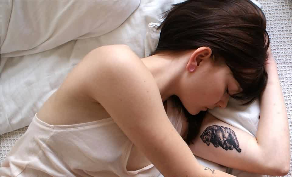 Sleeping with new tattoo