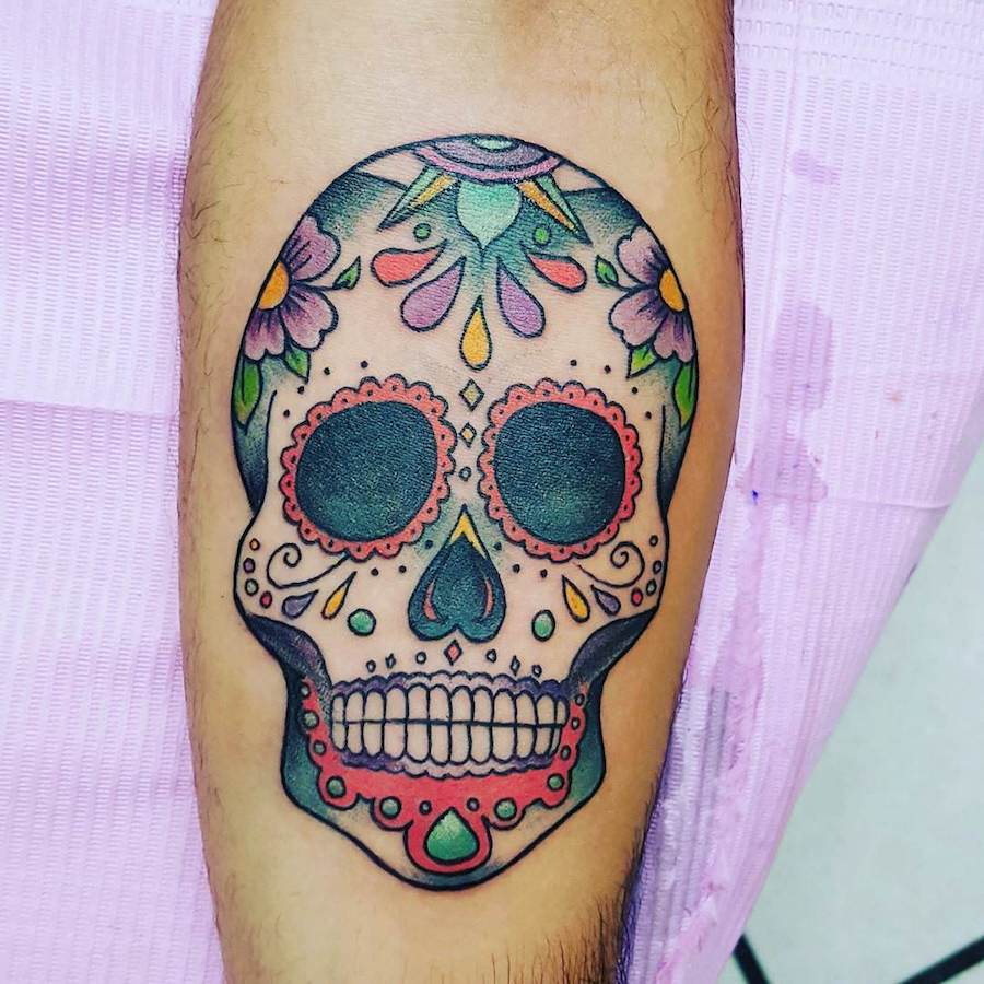 101 best sugar skull tattoo design ideas spooky sweet for Candy skull tattoo