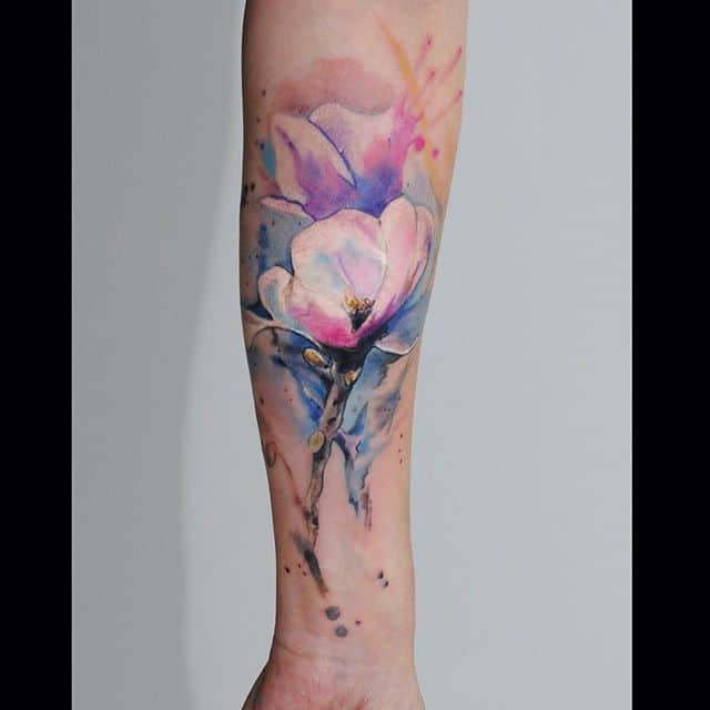 what are watercolor tattoos how quickly do they fade authoritytattoo. Black Bedroom Furniture Sets. Home Design Ideas