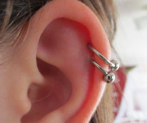Double Cartilage Piercings Guide Images Authoritytattoo