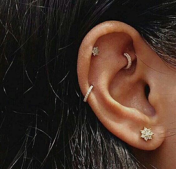 Upper Ear Piercings Images Guide