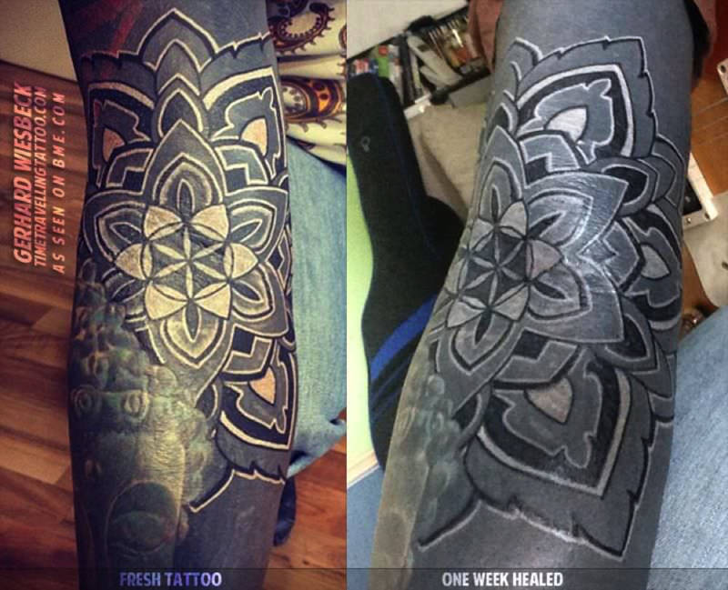 Black Tattoo Healing And Turning Grey? - Here's Why