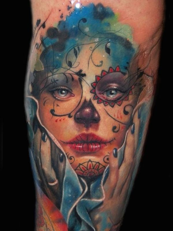 75 Mind-Blowing Day Of The Dead Tattoo Designs