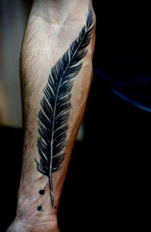95 Mind-Blowing Feather Tattoos And Their Meaning