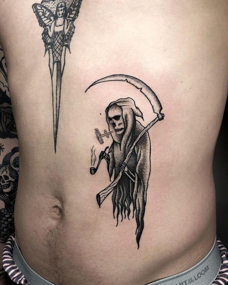 65 Mind-Blowing Grim Reaper Tattoos And Their Meaning