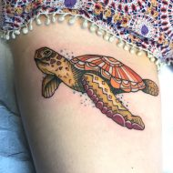 85 Mind-Blowing Turtle Tattoos And Their Meaning